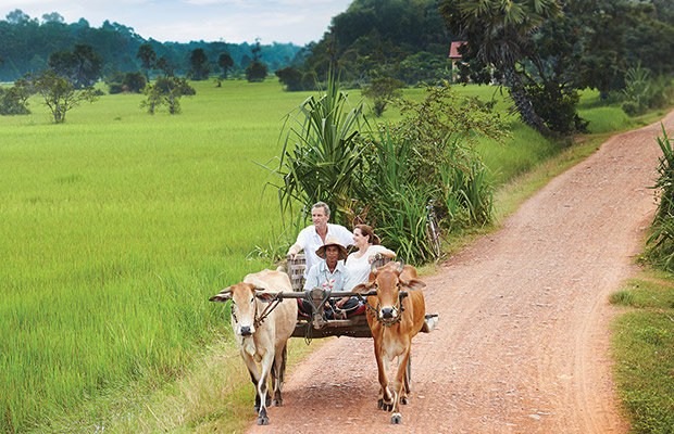 Rural Village with Ox Cart Tour & Monk Blessing